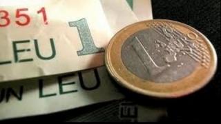 Euro s-a apreciat față de leu