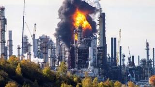 Explozie la cea mai mare rafinărie din Canada