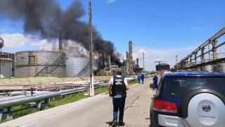 Amendă de 50.000 de lei aplicată de Garda de Mediu după incendiul de la rafinăria Petromidia
