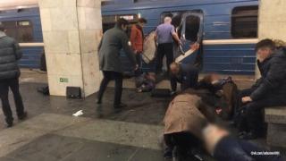Sankt-Petersburg în doliu, a doua zi după atentatul din metrou