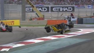 Accident spectaculos în Marele Premiu de la Abu Dhabi