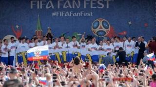Fotbaliştii ruşi, ovaţionaţi la Moscova