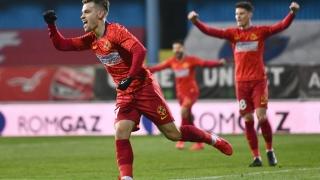 FCSB a învins Gaz Metan Mediaș, scor 3-2