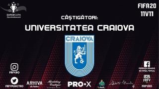 Universitatea Craiova s-a impus în Supercupa #jucămdeacasă