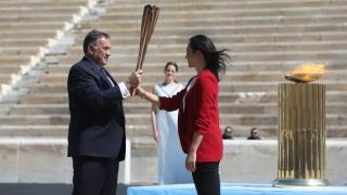Flacăra Olimpică a ajuns în Japonia
