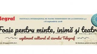 Foaie pentru minte, inimă şi teatru, gazeta culturală a Constanţei! By Telegraf
