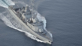 Fregată franceză în Portul Constanța