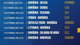 Partide importante pentru reprezentativele de fotbal ale României