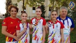 Gimnastele constănţene Silvia Sfiringu şi Ioana Stănciulescu, medalii de argint la FOTE