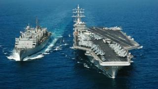 Grup naval, inclusiv un portavion, trimis de SUA în Marea Chinei de Sud