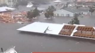 """Uraganul """"Michael"""" loveşte Florida cu rafale de vânt de 250 de km pe oră"""