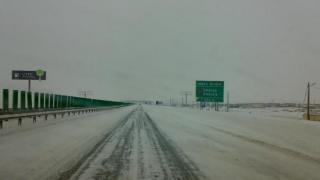 Se circulă în condiții de iarnă pe Autostrada Soarelui