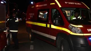 Mașină cuprinsă de flăcări în Năvodari