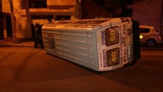 Microbuz răsturnat în Constanța!