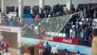 Meciul HCDS  - Dinamo, întrerupt cu două minute înaintea finalului