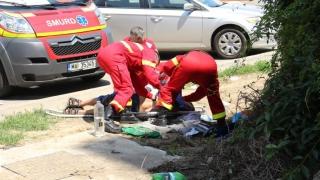 Pieton lovit pe Aurel Vlaicu, după ce a traversat neregulamentar