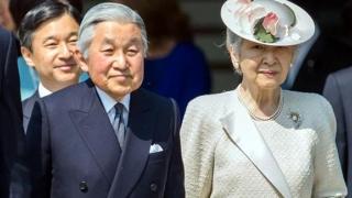 Împăratul şi împărăteasa Japoniei, la mormântul liderului legendar Jimmu