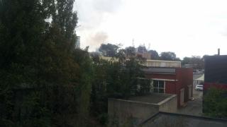 Incendiu la o baracă, pe bulevardul Mamaia!