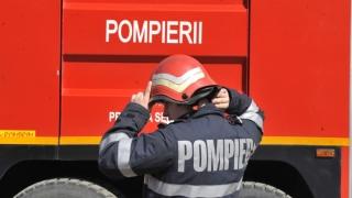 Clădire cuprinsă de flăcări în Constanța!