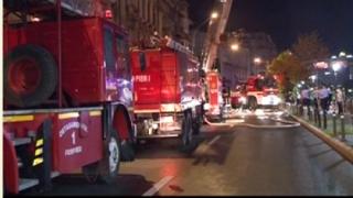 Incendiu la un bloc de locuințe cu 11 etaje