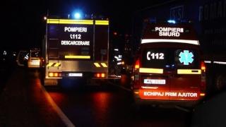 Incendiu urmat de o explozie, la un atelier de dezmembrări auto