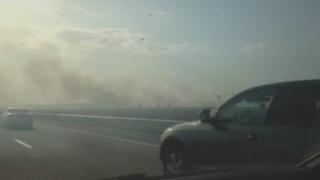 Traficul spre București, blocat! Incendiu și haos pe Autostrada Soarelui