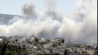 O grupare de extremă dreapta revendică incendierea unui centru pentru refugiați, în Grecia