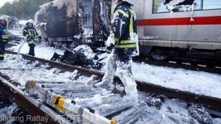 Incendiu cumplit într-un tren! Ce s-a întâmplat