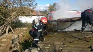 Incendiu violent în Deltă!