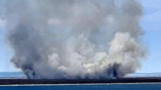 Incendiul izbucnit în zona Vadu a fost stins de pompierii consănțeni