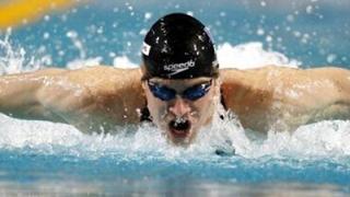 Norbert Trandafir, în semifinalele probei de 50 m liber la Jocurile Olimpice