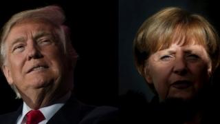 Trump și Merkel au discutat despre NATO, comerţ și imigrație
