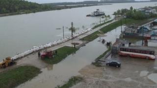 Infotrafic: Restricții de circulație pe DN22 din cauza inundațiilor