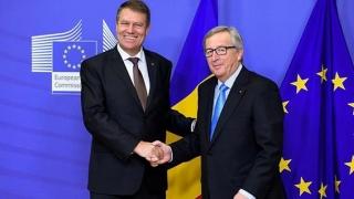 Iohannis se întâlneşte cu preşedintele Comisiei Europene
