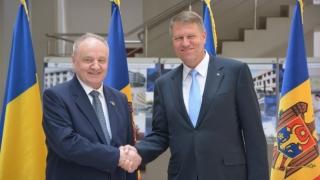 Președintele Klaus Iohannis l-a primit la Cotroceni pe omologul său moldovean