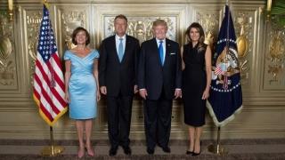 Klaus Iohannis şi soţia sa, lângă Melania şi Donald Trump, la recepţia în onoarea şefilor de stat