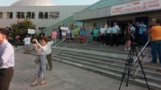 Viorica Dancilă, huiduită la Constanța de câțiva protestatari
