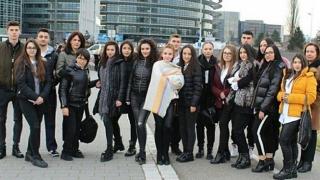 """Liceul """"G. Călinescu"""", prezentat în Parlamentul European de unul dintre elevii săi"""