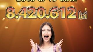 Loteria Română anunță că s-a câștigat Marele Premiu Loto 6/49, în valoare de 1,72 milioane de euro