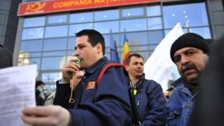 150 de lucrători poștali au protestat, nemulţumiţi de salariile mici şi condiţiile de muncă
