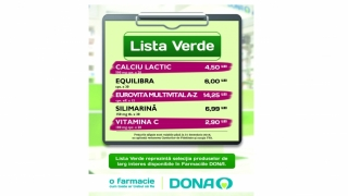Vitamina C® la 2,90 lei, în Farmaciile DONA din Constanţa. Întreabă farmaciştii de Lista Verde