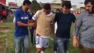 Un fotbalist brazilian a fost arestat în timpul unui meci