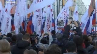 Zeci de arestări la un marș naționalist în Moscova