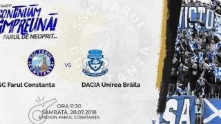 Sâmbătă, amical SSC Farul - Dacia Unirea Brăila