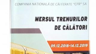 Intră în vigoare noul Mers al Trenurilor 2018-2019! Vezi detalii!