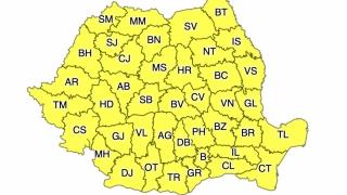 Cod galben de vreme instabilă, cu averse şi vijelii în toată ţara