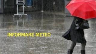 Informare meteo: 12 ore cu precipitații și intensificări ale vântului