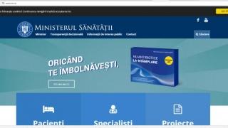 Nou site pentru Ministerul Sănătății