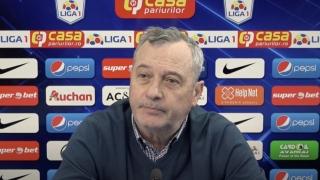 Mircea Rednic: Suntem obligaţi, ca să sperăm la play-off, să câştigăm cele cinci meciuri