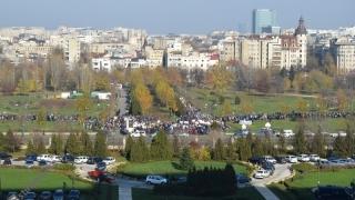 PROTEST în fața Parlamentului: Mii de persoane la mitingul pentru susținerea moțiunii